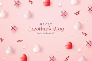 Happy mother's day on pink background. vector