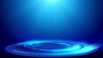 tecnología de fondo abstracto azul - resolución 4k - en bucle video