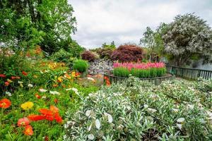 la flora y la fauna abundan en el terreno. jardines gubernamentales, rotarua, nueva zelanda foto