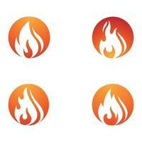flame icon fire vector design