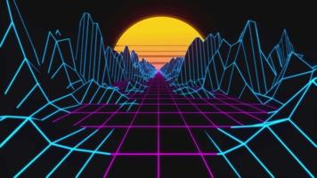 video sfondo loop scatola stile retrò animazione memphis 4k