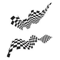 Race flag icon, simple design race flag logo template vector