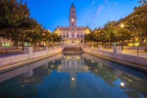 Porto city hall is the landmark of Porto in Portugal photo