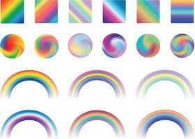 Rainbow gradients collection vector