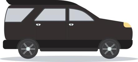 Modern black car design with flat style.Vector illustration.Flat vehicle auto mobile. vector