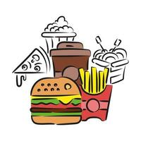 This is a street food concept vector