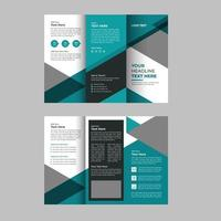 Junior School Admission Trifold Brochure Template vector