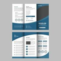 Admission Tri-Fold Brochure Design Template vector