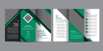 Educational Tri-Fold Brochure Design vector