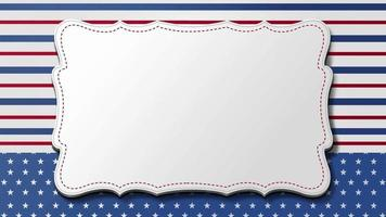 4th of July, American Independence Day. Background in national flag colors video