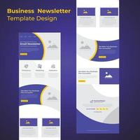 Multipurpose Corporate Business Campaign Promotional Email Template Design vector