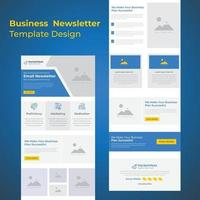 Corporate Business Campaign Promotional B2B E-newsletter email marketing template vector