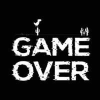 Game Over tshirt and apparel design template vector