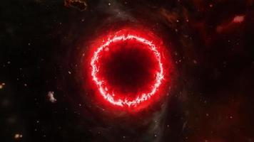 Loop glow red black hole nebula gas cloud video