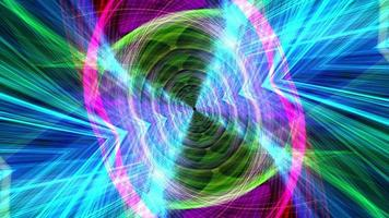 Colorful hypnotic trippy wire mesh waves tunnel loop video