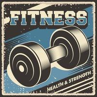 Retro vintage illustration vector graphic of Barbell Fitness fit for wood poster or signage