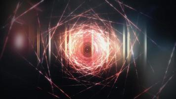 boucle de cadre en treillis métallique fin scifi hitech video
