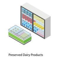 productos lácteos conservados vector