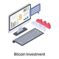 Bitcoin Investment and Capitalization vector