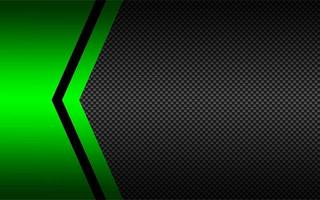 Black and green abstract vector background with carbon fibre pattern. Template for your banner and presentation. Modern vector design illustration