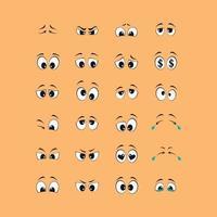 dibujos animados de ojos en blanco y negro vector
