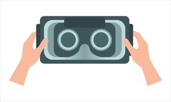 Catching virtual reality glasses vector