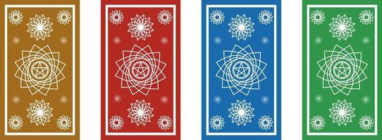 Vectorial design of the back of Tarot cards vector