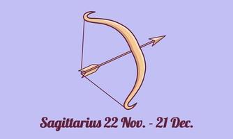 llustration of the Sagittarius zodiac sign vector