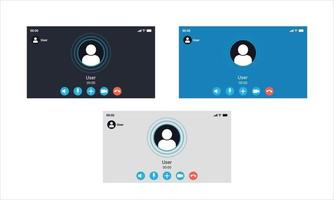 PC incoming video call interface vector
