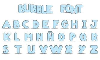 letras mayúsculas alfabeto estilo burbuja vector
