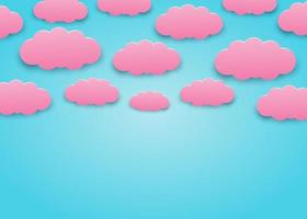 pink and blue clouds arrangement vector