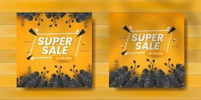 Super sale for social media post vector