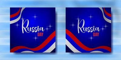 Russia day celebration for social media post vector