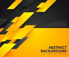 Abstract yellow orange and black contrast background.Tech futuristic corporate design. Geometric illustration for brochures, flyers, web graphic design. vector