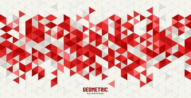 Red, white and grey color of modern technology traingle geometric pattern design. You can use for cover, poster, banner web, flyer, Landing page, Print ad. Vector illustration