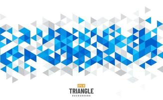 Blue, white and grey geometric abstract background with polygonal triangles, cube pattern. Modern template design with color triangle for brochure, leaflet, flyer design. Vector illustration