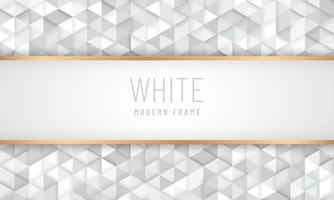 Abstract luxury white grey triangle pattern design background with copy space. Modern and minimal frame design. You can use for cover brochure template, poster, banner web, flyer, print ad. Vector illustration