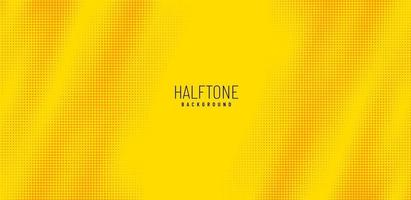 Abstract Yellow, orange halftone dots background with copy space. Dots yellow orange background. Modern halftone pattern. Vector illustration