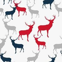 Abstract Seamless deer pattern background. Vector Illustration EPS10