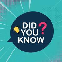 ¿Sabías una etiqueta adhesiva de hechos interesantes? ilustración vectorial vector