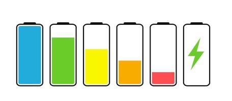 Battery Icon isolated on white. Vector Illustration