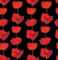 Floral pattern. Flower poppy seamless background. Flourish ornamental garden vector