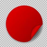 Abstract Circle Sticker Vector Illustration