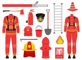 Firefighter collection vector design illustration isolated on white background