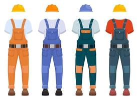 Overall construction uniform vector design illustration isolated on white background
