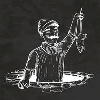 vector de ilustración vintage de boceto de estilo retro dibujado a mano atrapasueños