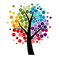 Abstract Vector Four seasons Tree Illustration