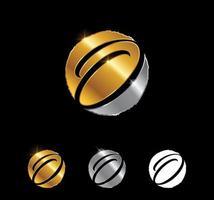 Golden Letter O Monogram Initial Sign vector
