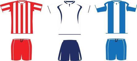 kit de fútbol medias mangas vector