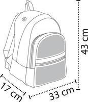 Front Zipped Pockets Bag vector